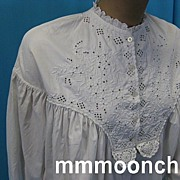 Antique nightgown Civil War era or earlier hand sewn