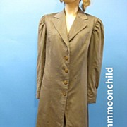 B2569 Vintage Edwardian Coat fr Walking Suit