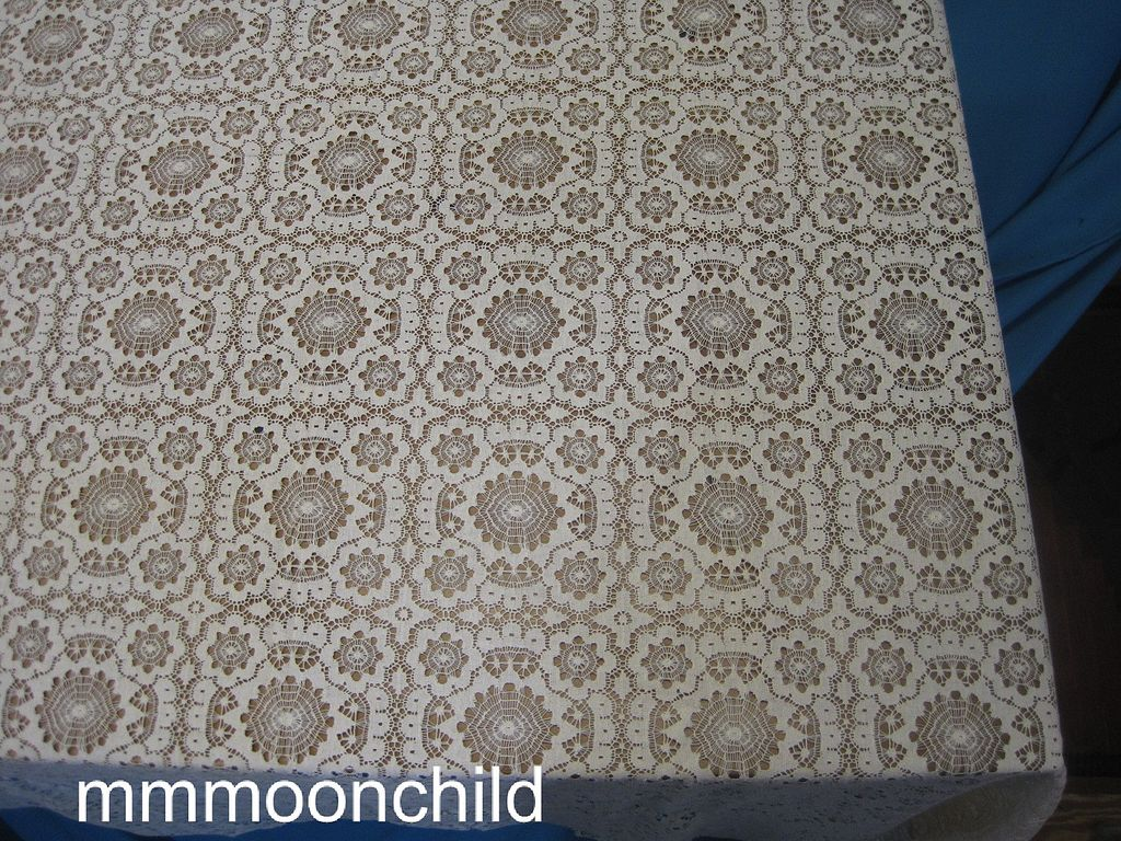 Antique Lace Tablecloth  68X84 Victorian era