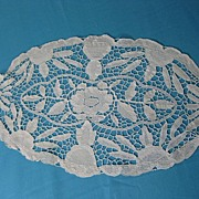 Antique runner Italian needlelace Victorian era