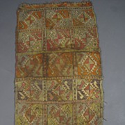 Vintage Collectible Hand woven Throw Rug HM31