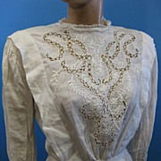 B2635 Antique waist blouse Victorian era