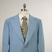 Vintage 60s 70s mens Jacket powder blue