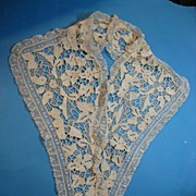 Antique lace collar Victorian era handmade Italian needlelace