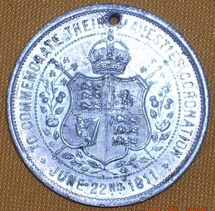 1911 Commemorative Medallion Coronation King George V
