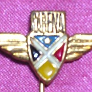 Vintage Sabena Airlines Advertising Lapel Pin