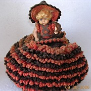 "Cute Retro 1940's Doll Tea Pot cover or ""Tea Cosy"""