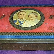 1937 Commemorative George 1V Coronation Tin Glasgow