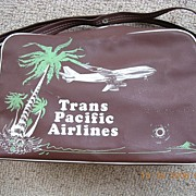 Vintage Trans Pacific Airlines Cabin Bag