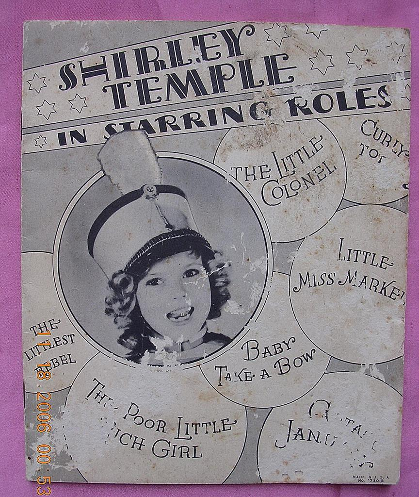 Vintage 1934 Shirley Temple Book &quot;In Starring Roles&quot;