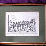 Early 18th Century French Engraving Nouvelle Zealand