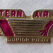 Vintage WESTERN AIR LINES Junior Pilot Badge