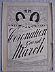 Vintage Edwardian Period Sheet Music 'Coronation Grand March' 1901