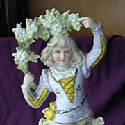 Gorgeous Victorian Hand Painted Bisque Figurine