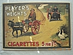 Vintage Tobacco Advertisement 'PLAYERS WEIGHTS' Cigarettes