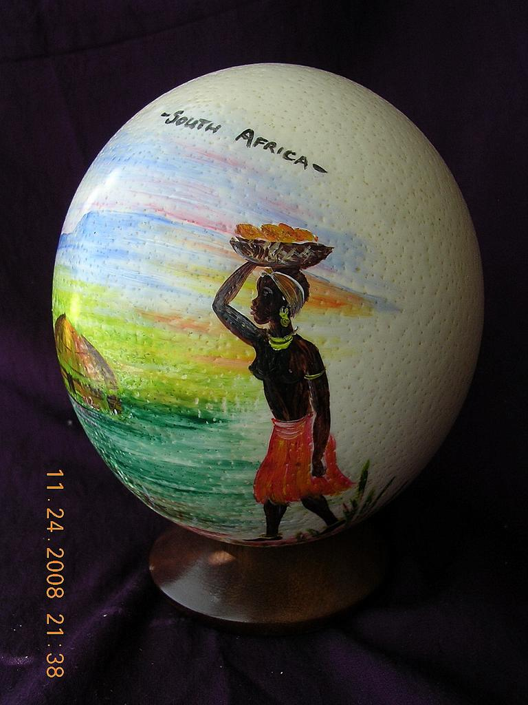 Hand Painted African Ostrich Eggs