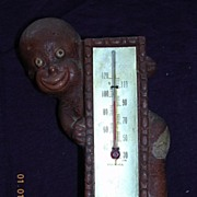 Vintage DAPPER DAN Black Boy Thermometer