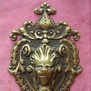Victorian Period Art Nouveau Brass Door Escutcheon