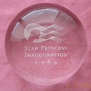 Shipping Adverting Paperweight STAR PRINCESS Inauguration 1989