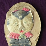 "Victorian Children's Toy Advertising Clapper ""GOLDEN MINIM Ice Cream"""
