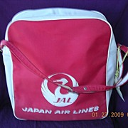 Vintage Japan Airlines Cabin Bag