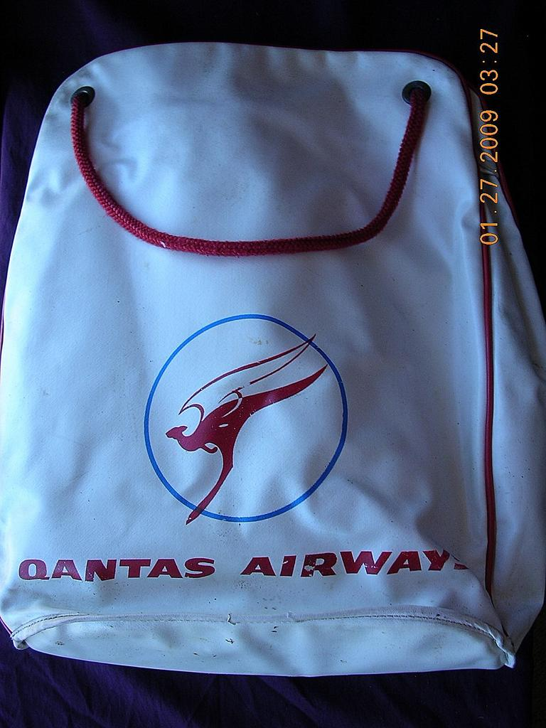 Vintage Qantas Airways Cabin Bag