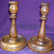 BOSTON STUMP Restored Oak Candle Sticks 1930-31