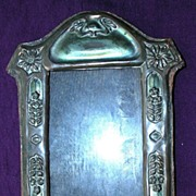 Victorian Art Nouveau Pressed Copper Picture Frame