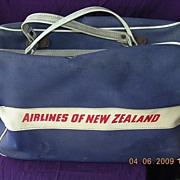 Vintage 1940's-1950's Airlines of New Zealand Cabin Bag