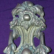 Ornate Nouveau Cast Brass Door Knocker