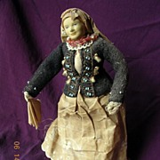 1930's Peasant Woman Doll From England