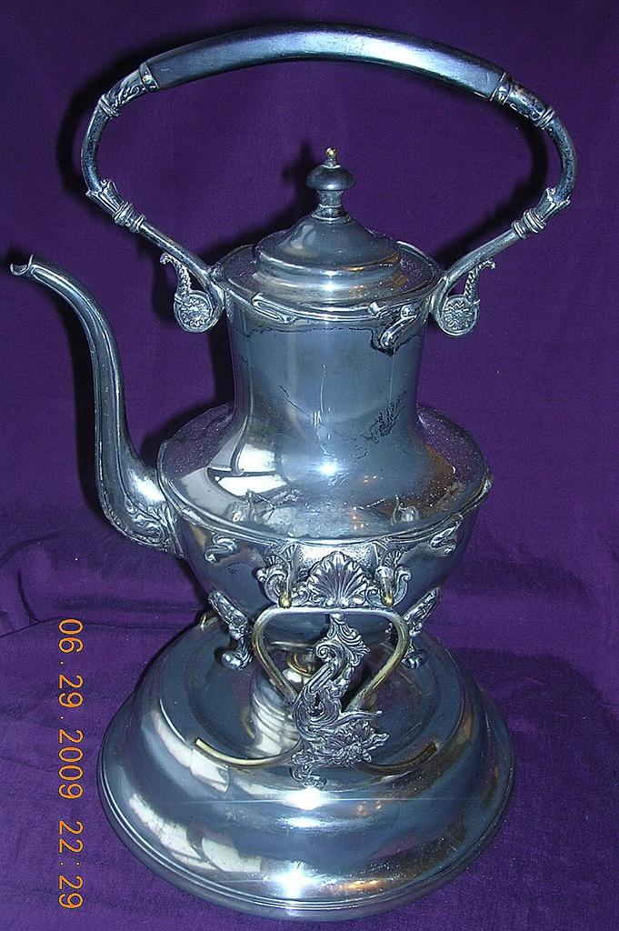 Fabulous Victorian Coffee Pot With Stand & Spirit Burner