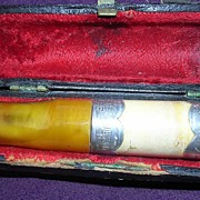 1901 Victorian Meerschaum & Amber Cigar Holder