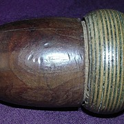 Victorian Acorn Shaped Vegetable Ivory Thimble Case