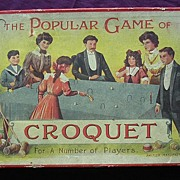 Edwardian Period Child's Croquet Game Set