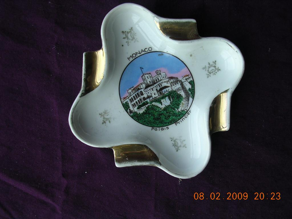 Vintage 1950's Limoges Ashtray MONACO Palace