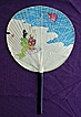 Vintage Japanese Paper Fan Circa 1930