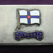 Adelaide Steamship Co 'M.V. MOONTA' Souvenir Napkin Ring