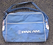 Vintage Blue Vinyl PAN AM Cabin Bag