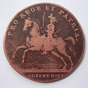 1793 British Military Token 'Queens Bays - Norwich Barracks'