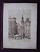 1838 French Engraving 'Place De La Croux Pierre'