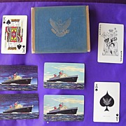 Vintage Double Deck Playing Cards 'United States Line'