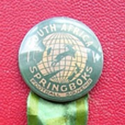 SPRINGBOKS Rugby Team Supporters Badge New Zealand Tour 1956