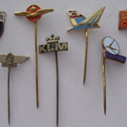 Vintage European Airline Lapel Pin Badges
