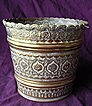 British Raj Era Beautifully Decorative Brass Jardiniere