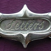 Chromed ART DECO Door Knocker & Letter Slot
