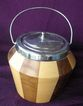 Vintage Two Tone Wooden Biscuit Barrel