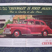 1945 CHEVROLET Double Page Advertisement