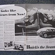 1938  BUICK Double Page Spread Advertisement