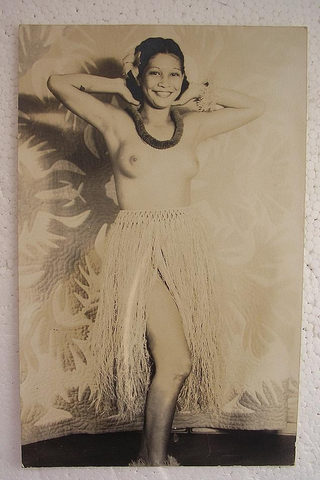 Vintage Hawaiian Hula Dancers Topless